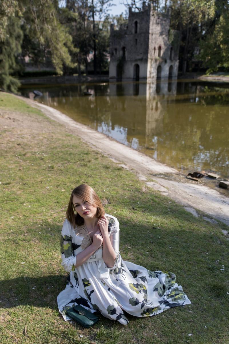 Twinset: vestito floreale lungo