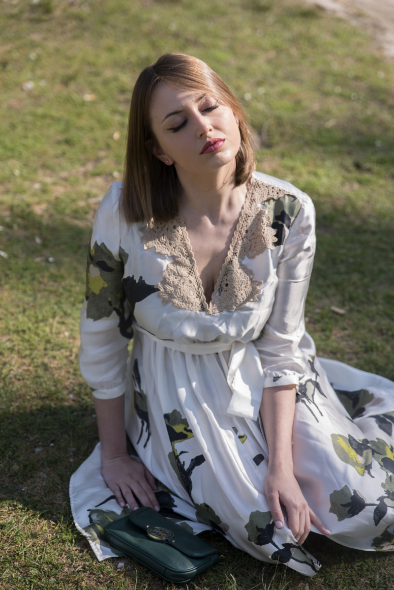 vestito floreale lungo Twinset 2