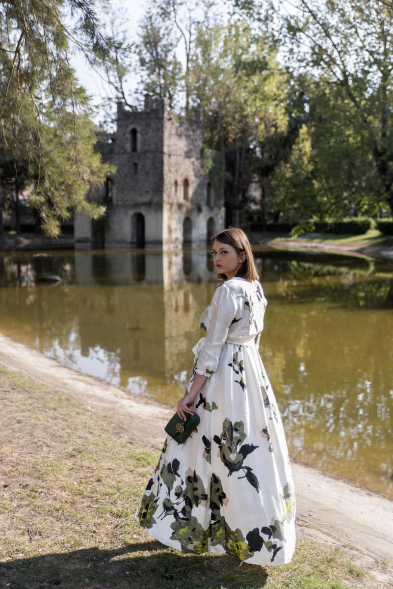 vestito floreale lungo