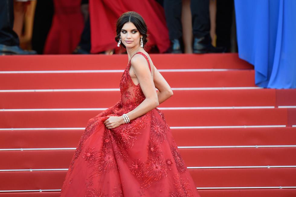 La modella portoghese, angelo di Victoria's Secrets, Sara Sampaio alla prima di Ismael's Ghosts - 17 maggio 2017 (Antony Jones/Getty Images)