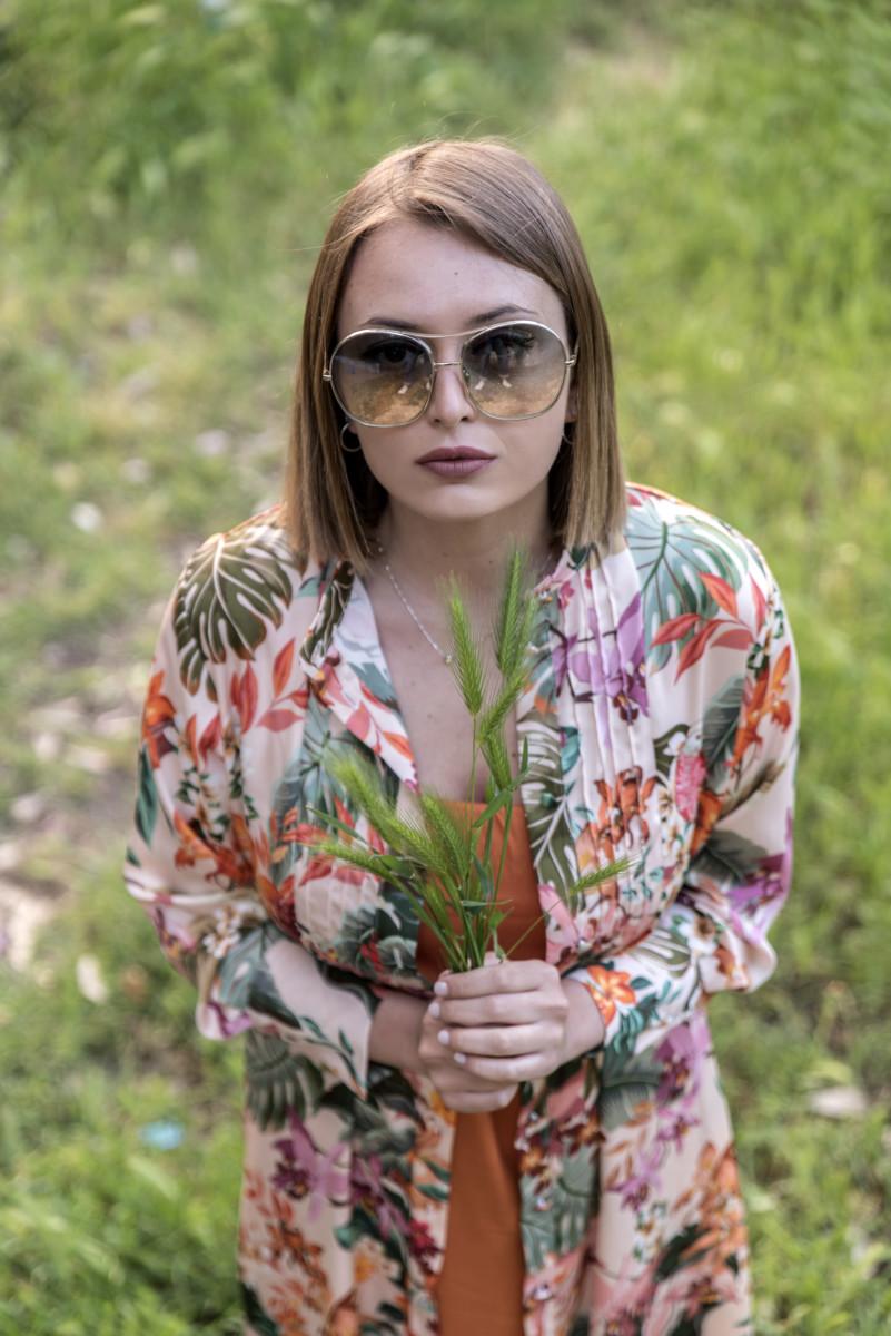 vestito a fiori look anni 70 4