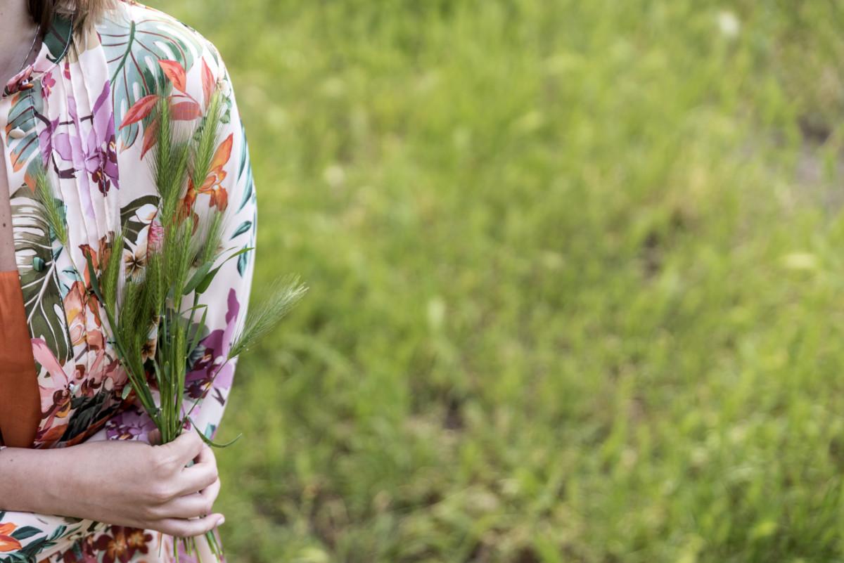 vestito a fiori look anni 70 5