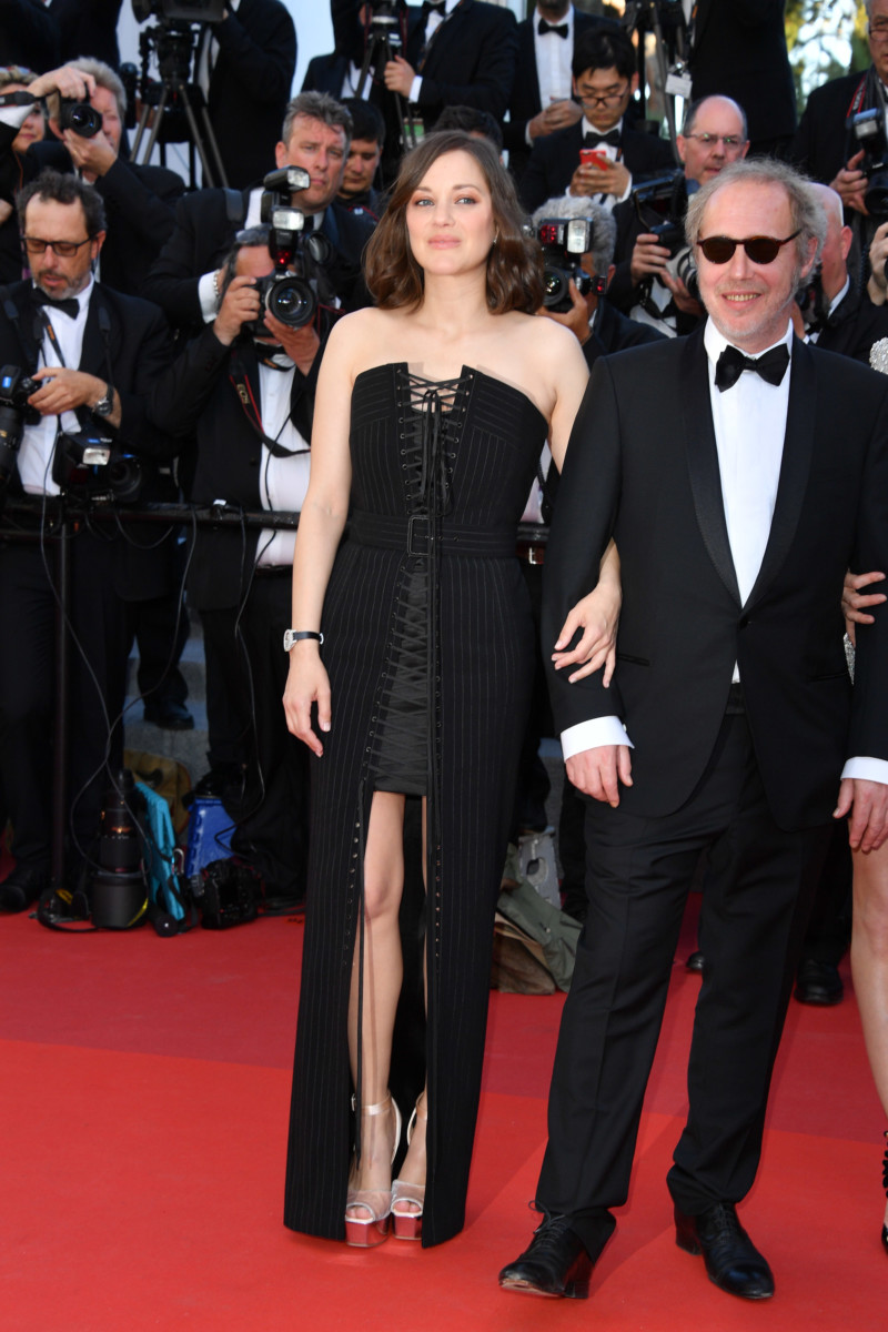 """CANNES, FRANCE - MAY 17: Marion Cotillard and Director Arnaud Desplechin attend the """"Ismael's Ghosts (Les Fantomes d'Ismael)"""" screening and Opening Gala during the 70th annual Cannes Film Festival at Palais des Festivals on May 17, 2017 in Cannes, France. (Photo by George Pimentel/WireImage)"""